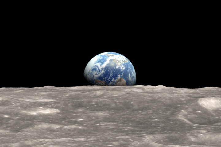 earthrise from moon apollo - photo #9