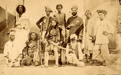 19th century postcard showing the mix of ethnic and religious types in the Middle East