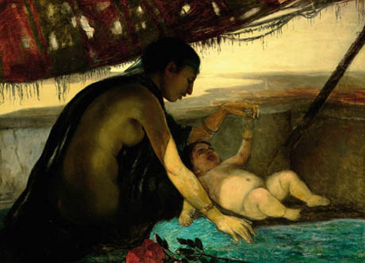 Элизабет Иерихау Бауманн - En ægypterinde legende med sit lille barn.png