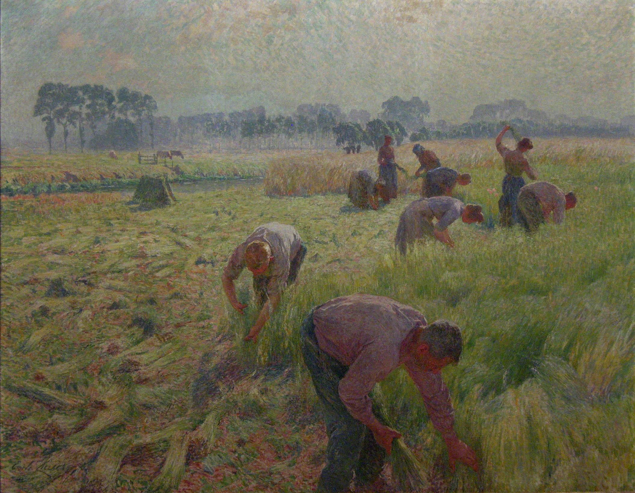 "evlasoogst1904""laxharvesting""paintingbymilelaus,oyaluseumsofinertsofelgium,russels,elgium"