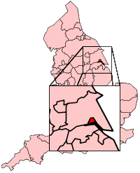 Hull shown within England