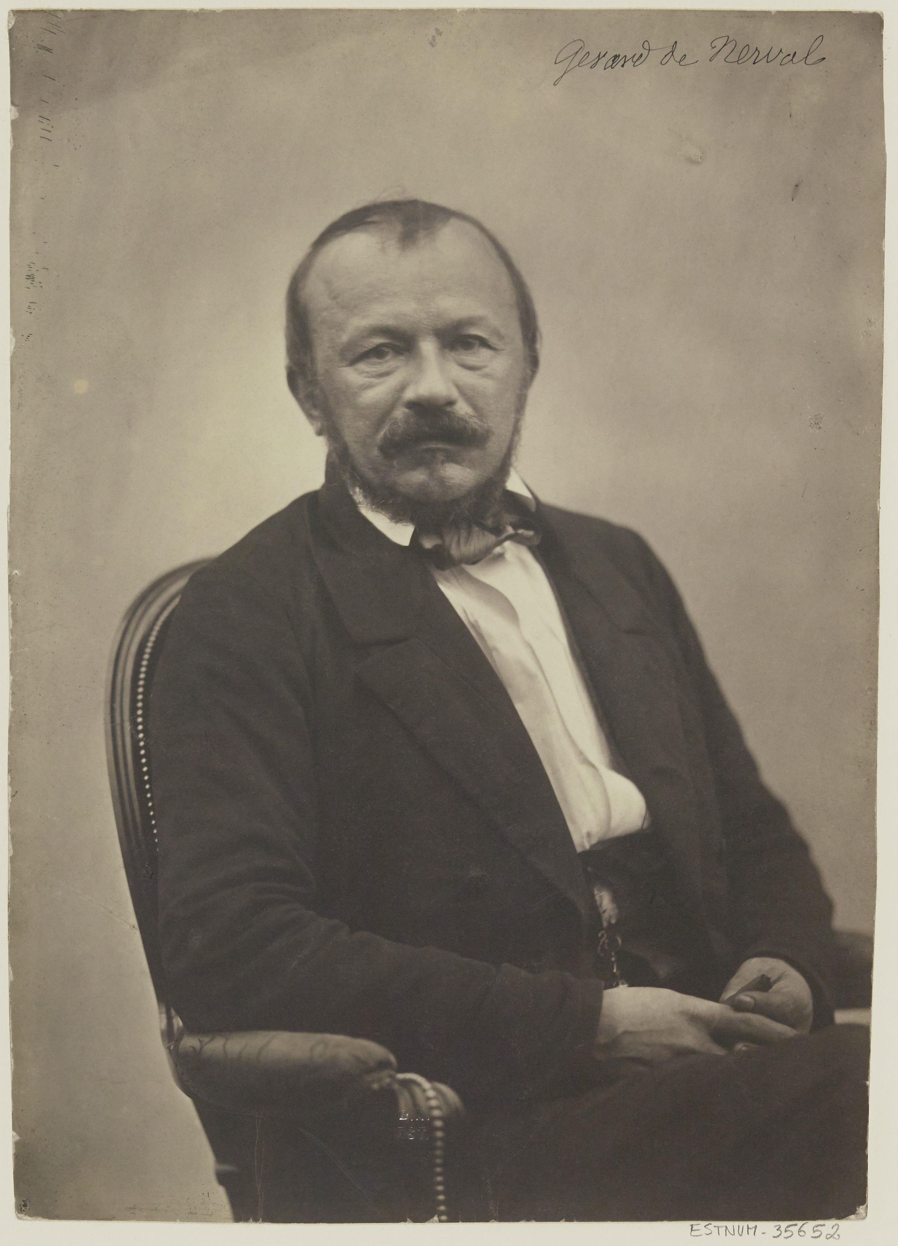 Fotografía de Gérard de Nerval por Félix Nadar.