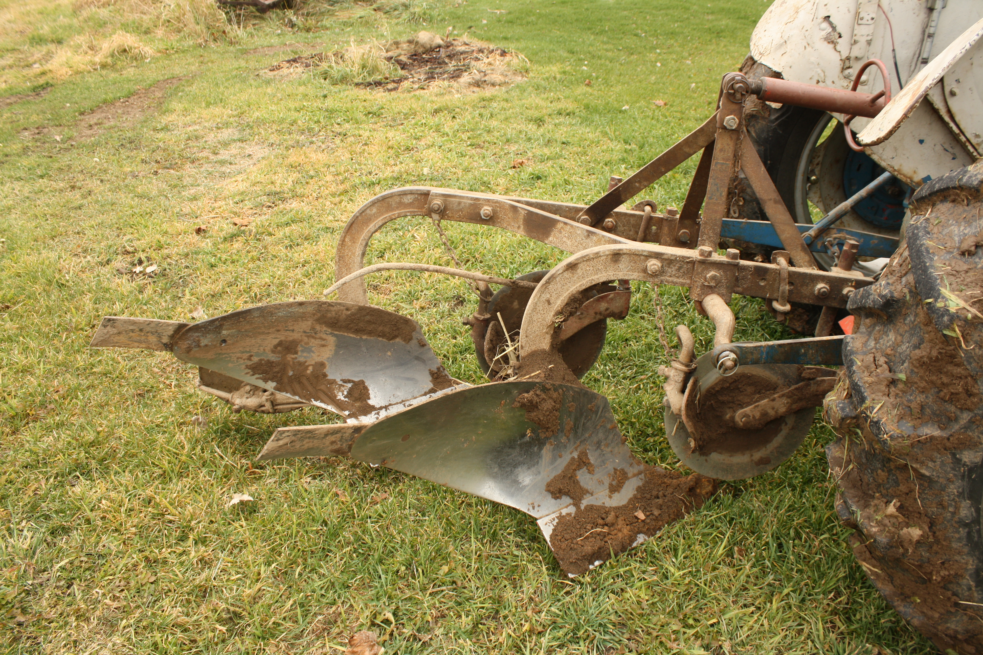 3 Point Hitch Tractor Plows : File ferguson plow with coulters and jointers hooked via