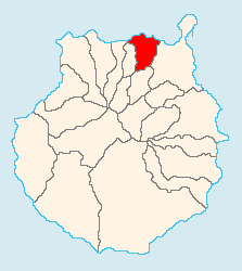 Location of Arucas