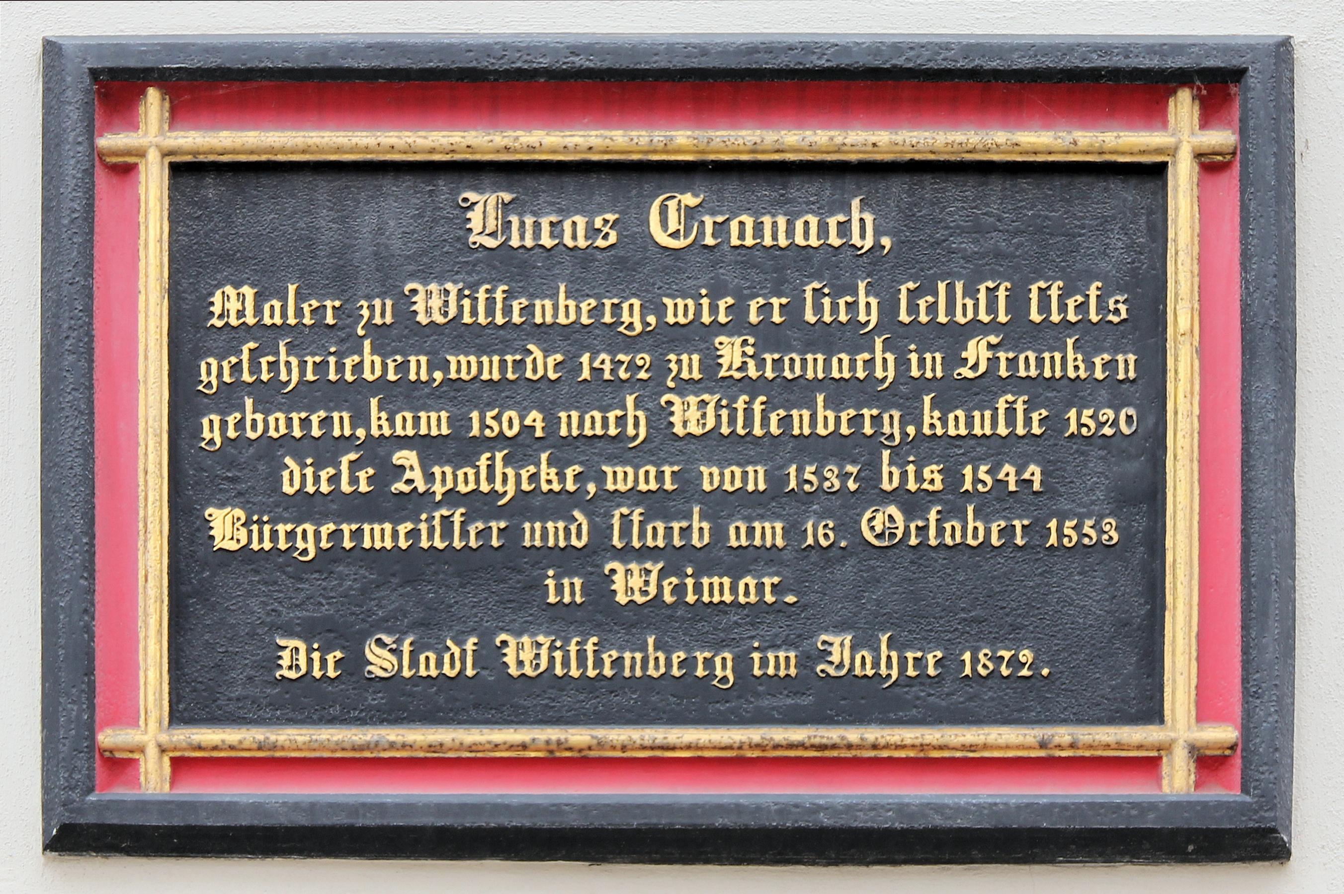 """Lucas Cranach Der """"ltere –"""
