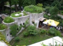 (Del af) Ghibli-museet har set fra oven.
