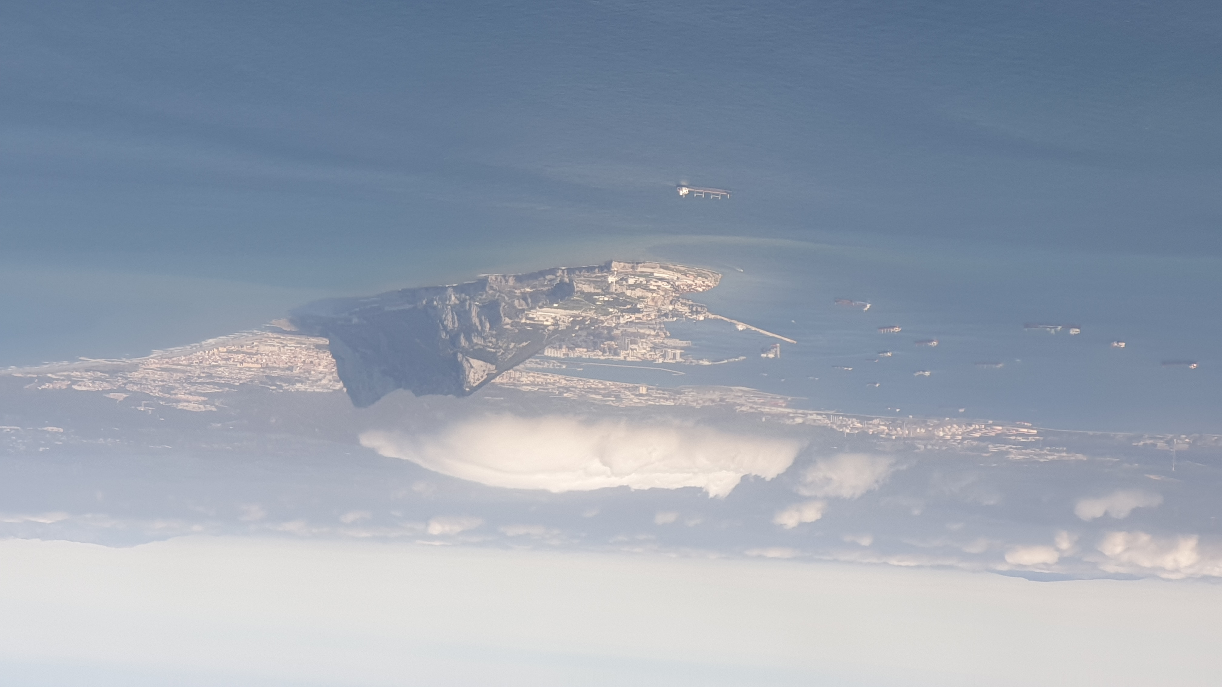 Gibraltar - Levanter cloud over The Rock - Aerial View 2 (Feb 2021).jpg