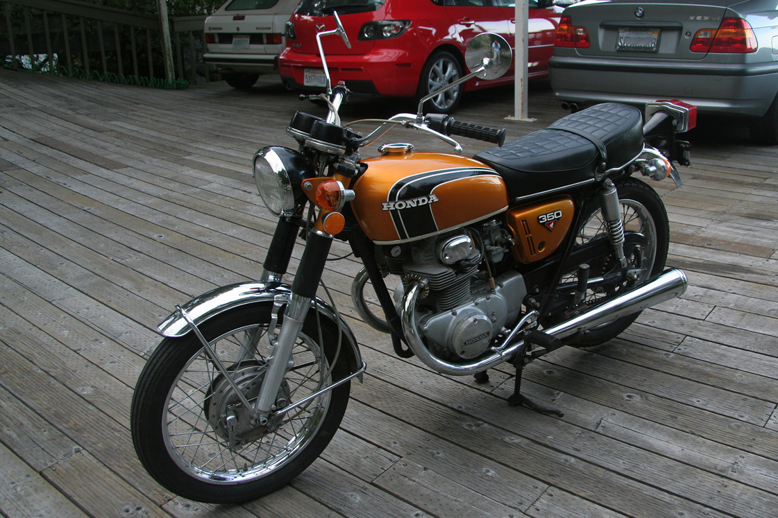 Filegold 1972 Honda Cb350 Twin Three Quarter Left Wikimedia Cb125 Wiring Diagram