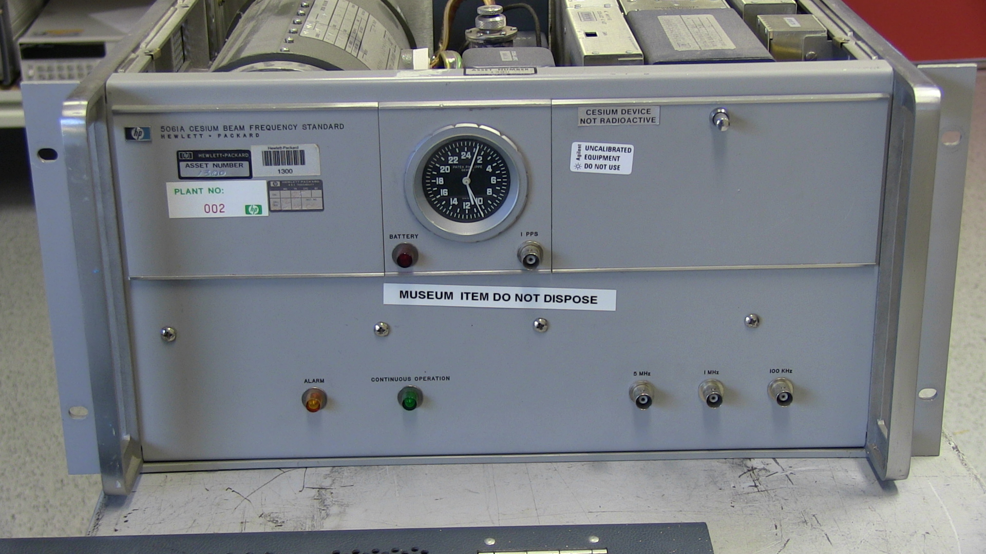 Atomic clock used by Hafele and Keating