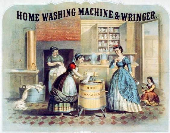 Beschreibung historische waschmaschine