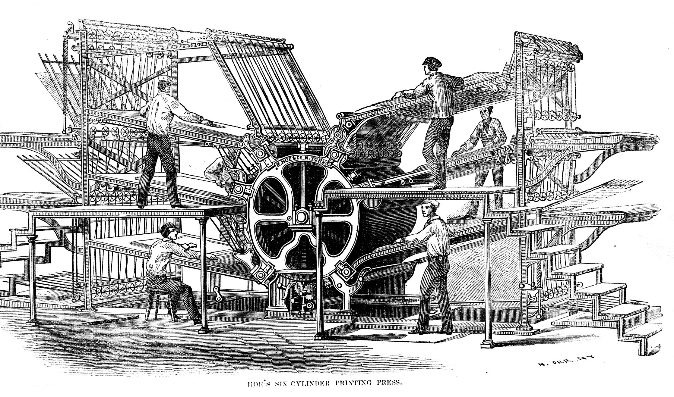 rotary printing press wikipedia