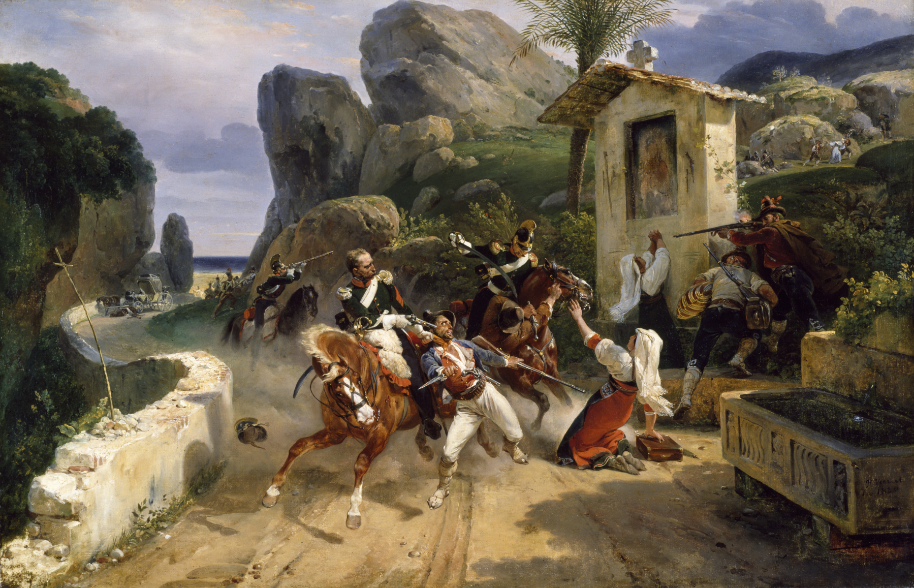 Horace Vernet - Italian Brigands Surprised by Papal Troops - Walters 3754.jpg