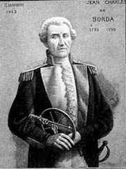 Photo of Jean-Charles de Borda, the inventor of the Borda count.