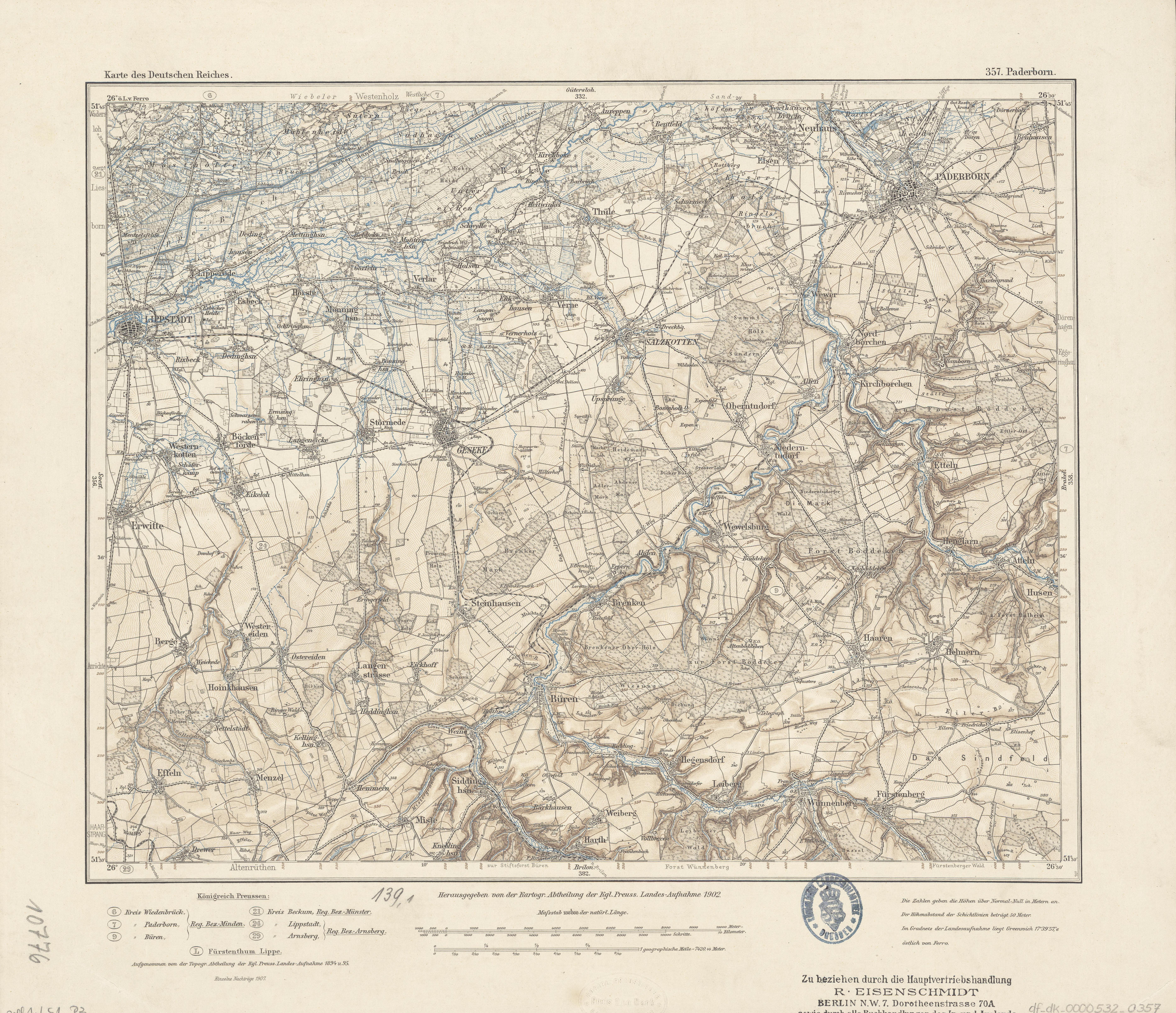 Karte Paderborn.Datei Karte Des Deutschen Reiches 357 Paderborn 1902 Jpg