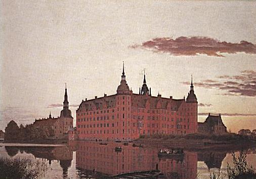 """Christen Købke: """"Slot Frederiksborg"""" (1835)"""