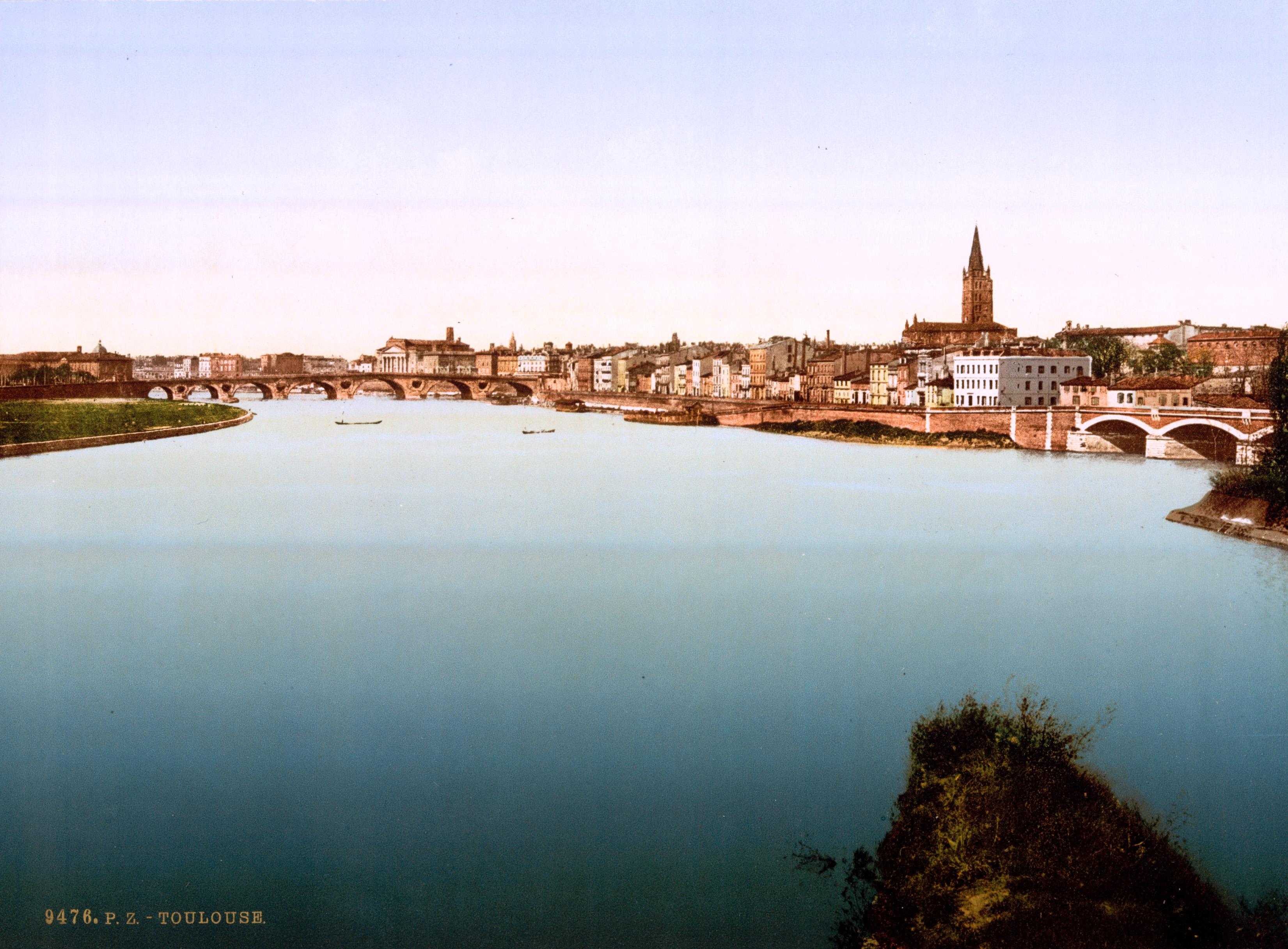 File La Garonne Toulouse France Ca
