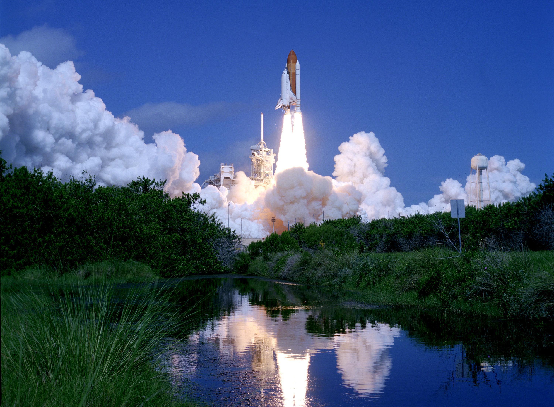 atlantis space shuttle night launch - photo #2