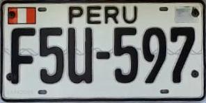 Vehicle registration plates of Peru Peru vehicle license plates