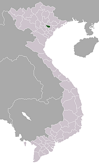 Location of Bắc Ninh Province