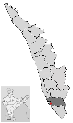 Location of Kollam Kerala.png