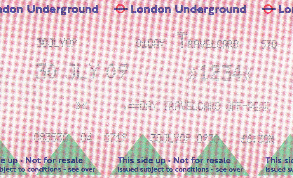 Day Travel Card London Underground Cost