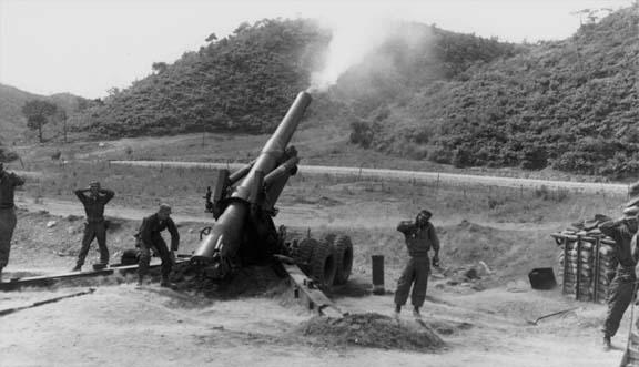 M115 203 Mm Howitzer Korea 1952