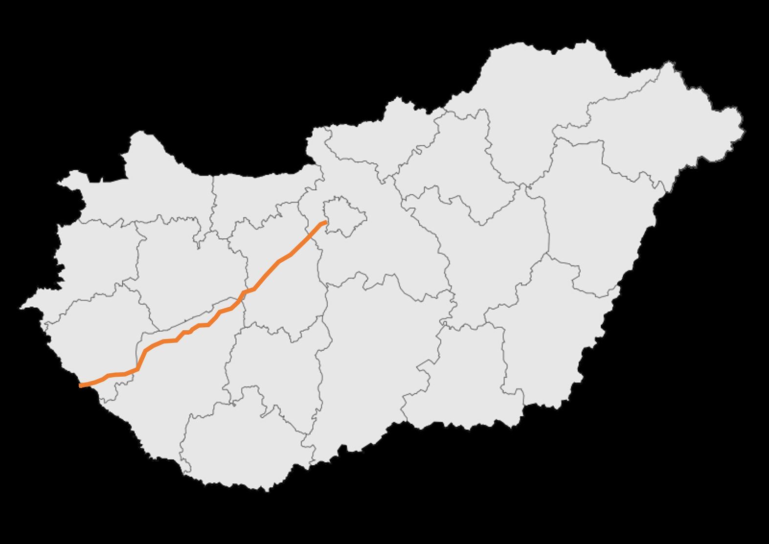 autópálya térkép File:M7 autópálya   térkép.png   Wikimedia Commons autópálya térkép