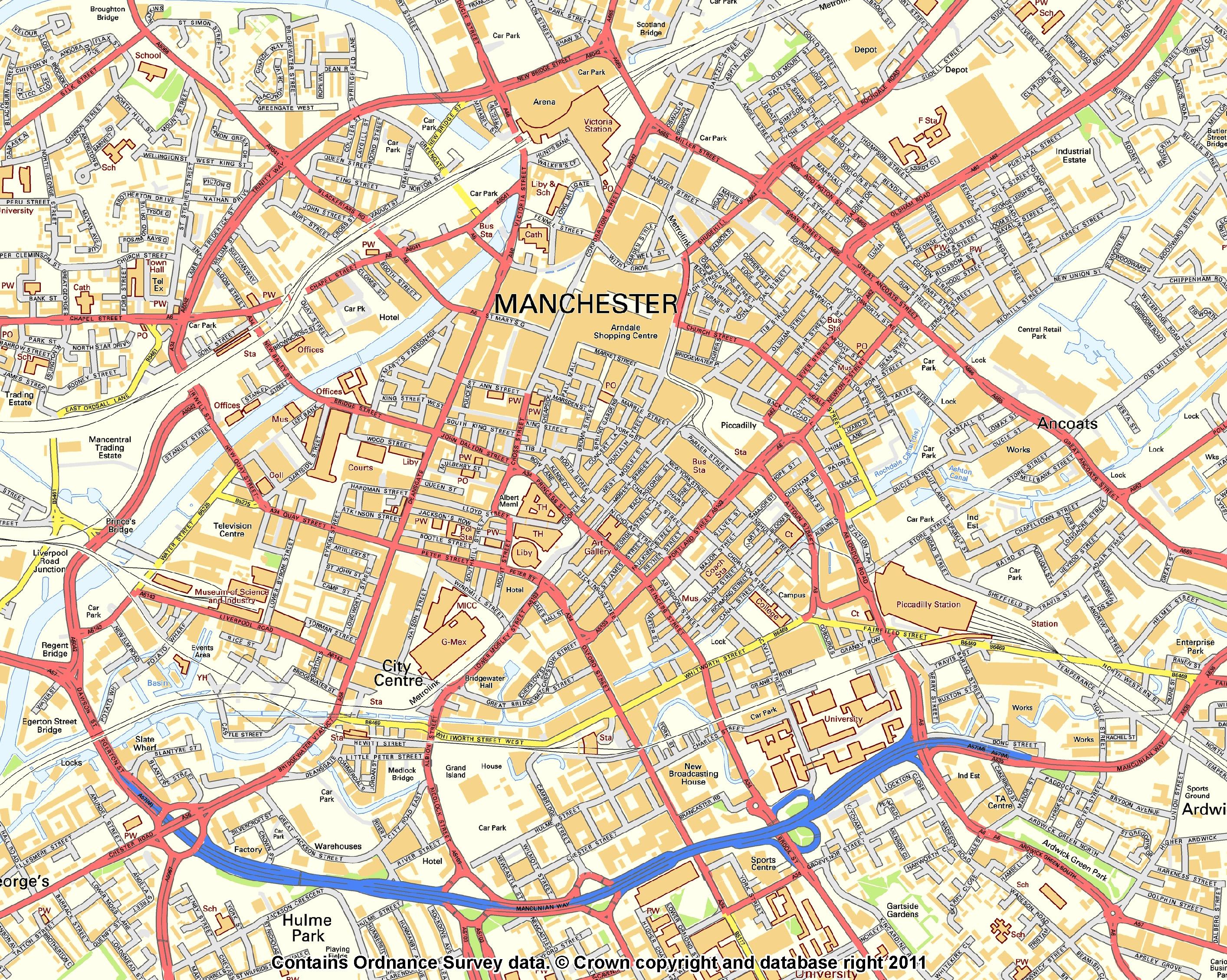 FileManchester Street Plan 2011jpg  Wikimedia Commons