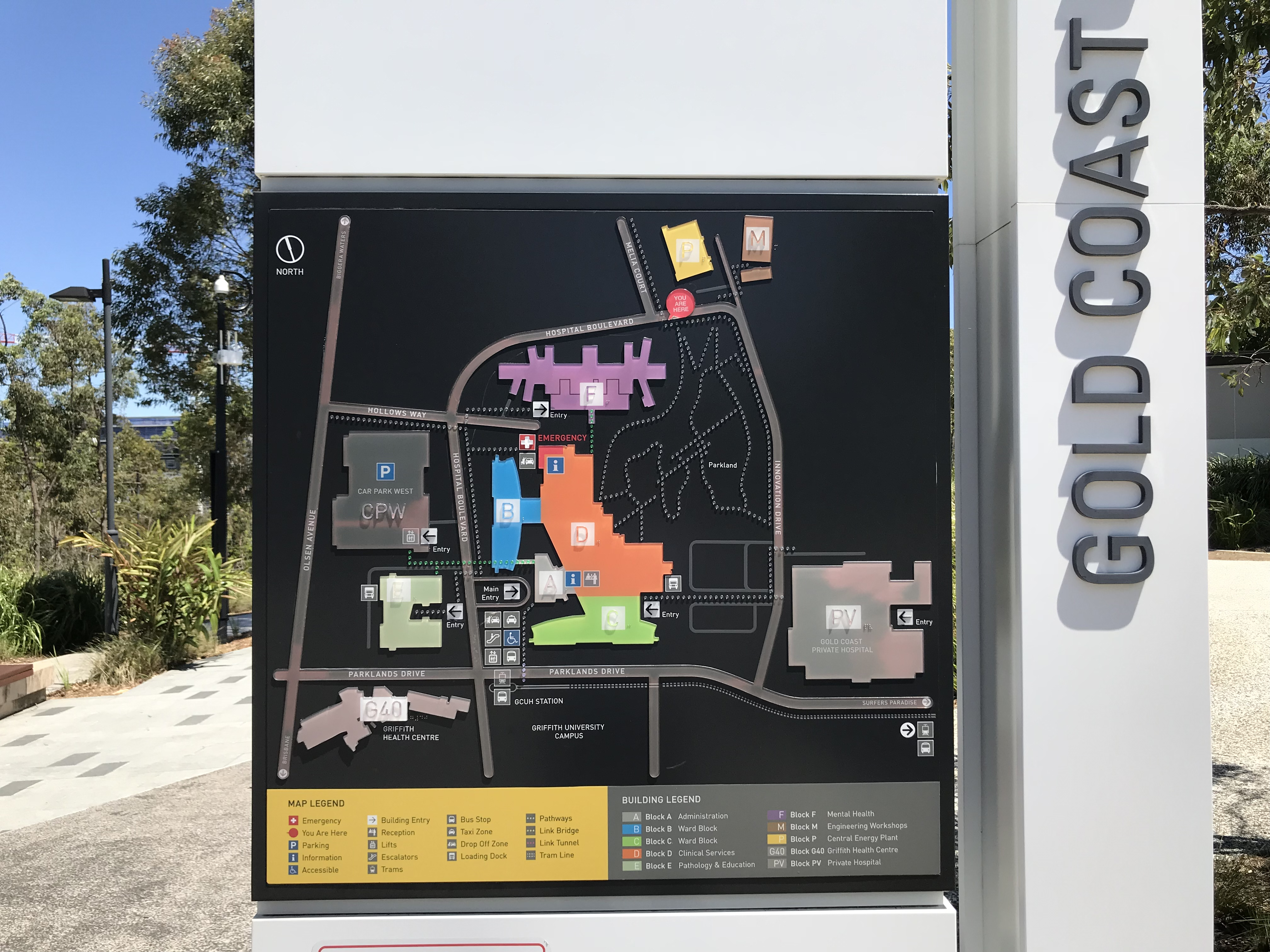 Gold Coast University Hospital Map File:Map and directory display at Gold Coast University Hospital