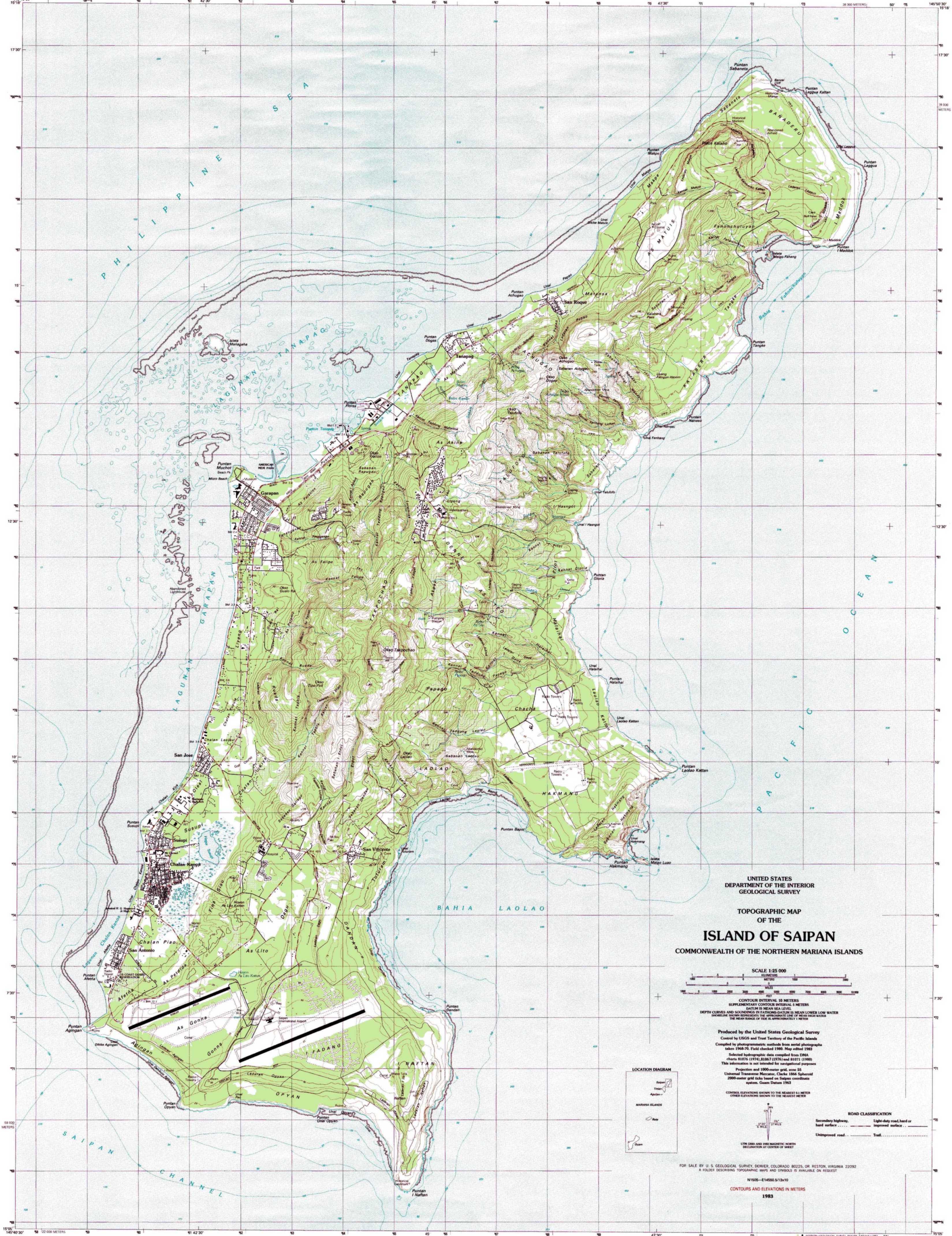 Saipan Islands Map