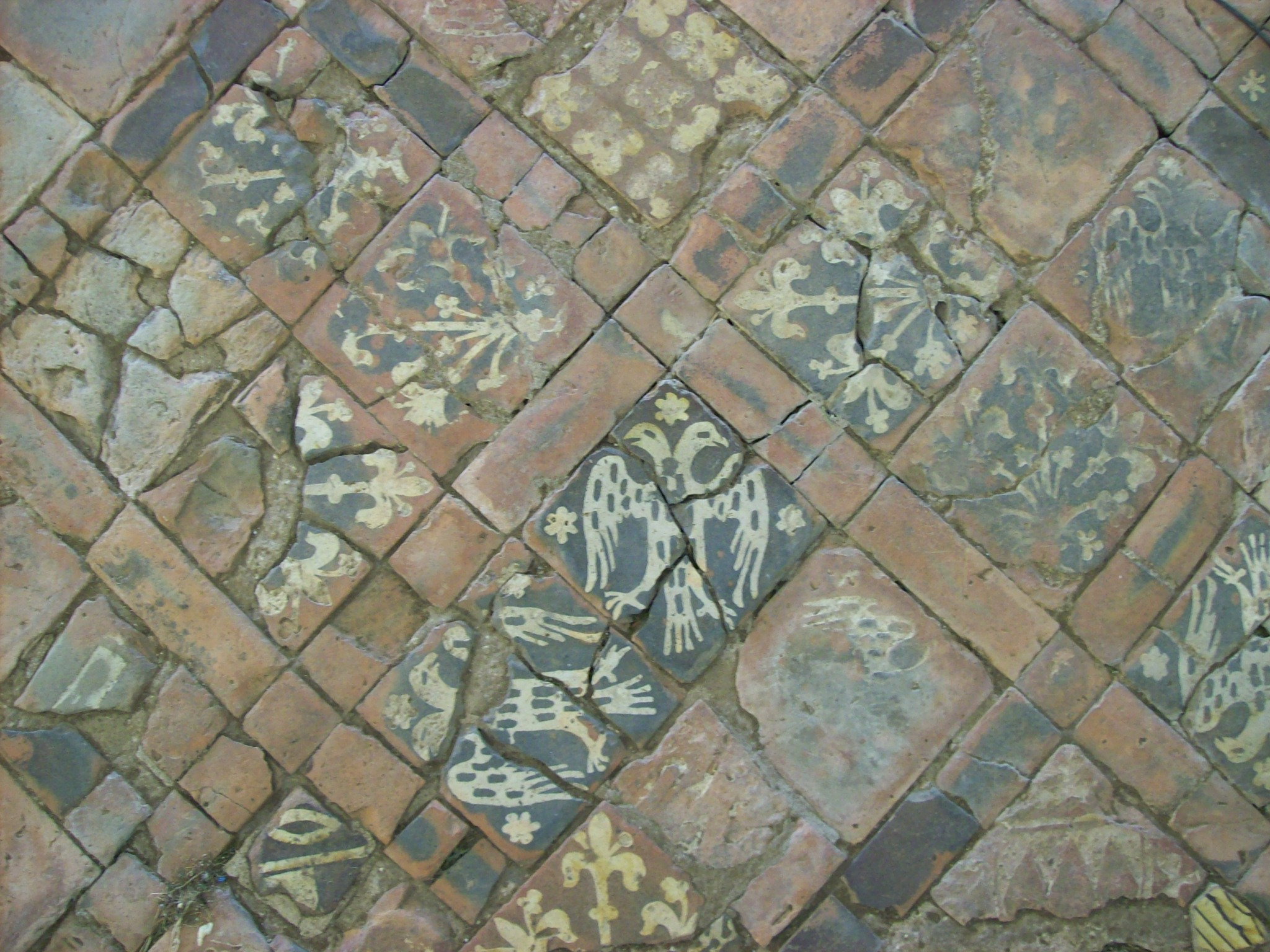 File medieval floor tiles cleeve wikimedia for Abbey floor