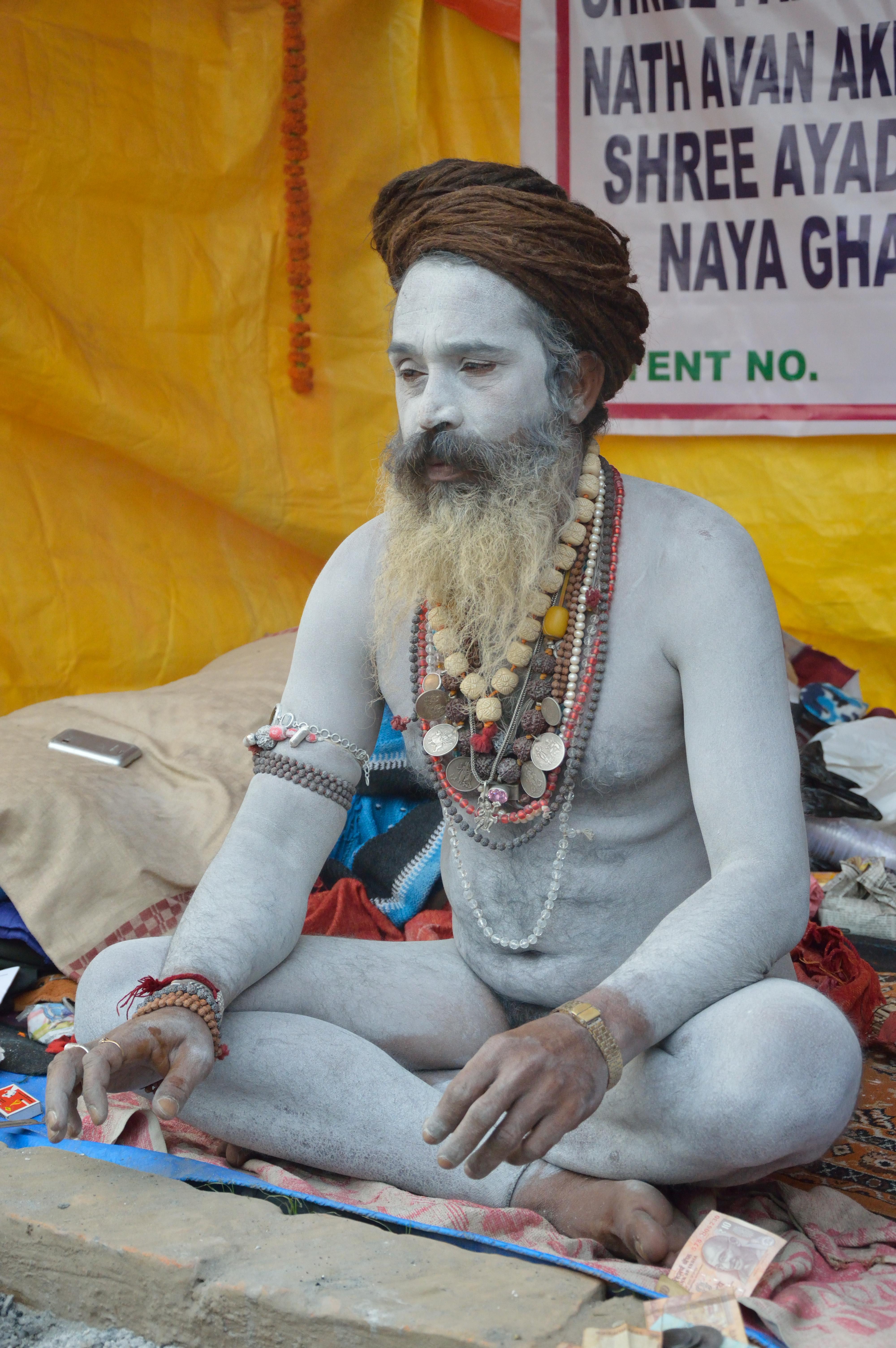 File:Naga Sadhu - Gangasagar Fair Transit Camp - Kolkata 2013-01-12