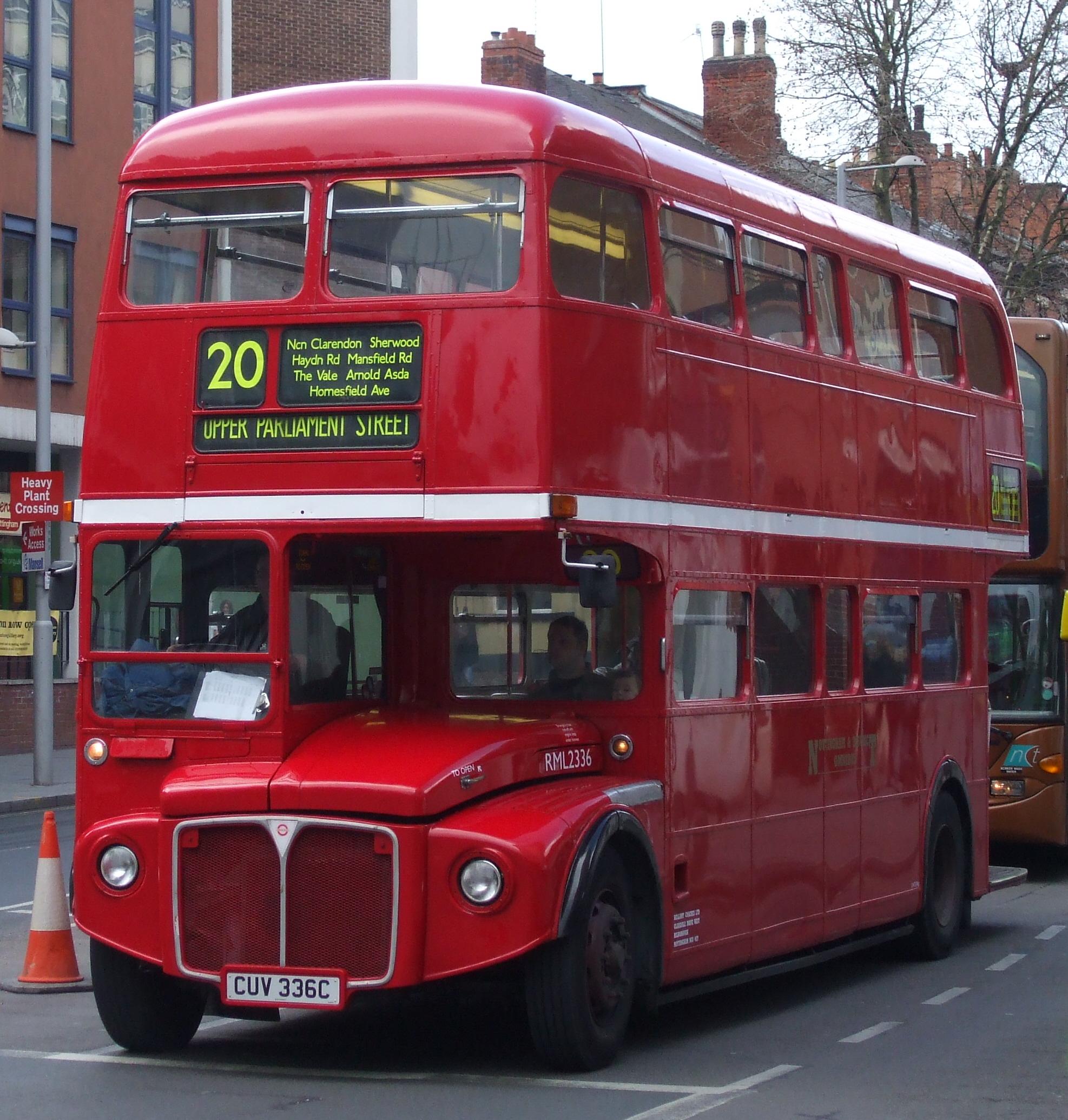 File Nottingham  U0026 District Omnibus Routemaster Bus Rml2336  Cuv 336c   Mansfield Street