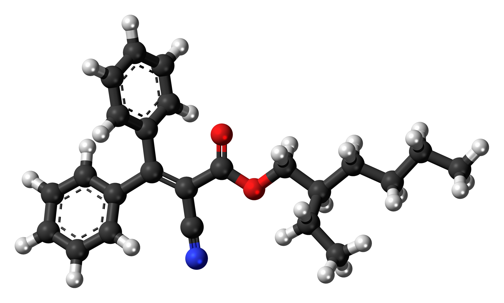 File Octocrylene 3d Ball Png Wikimedia Commons