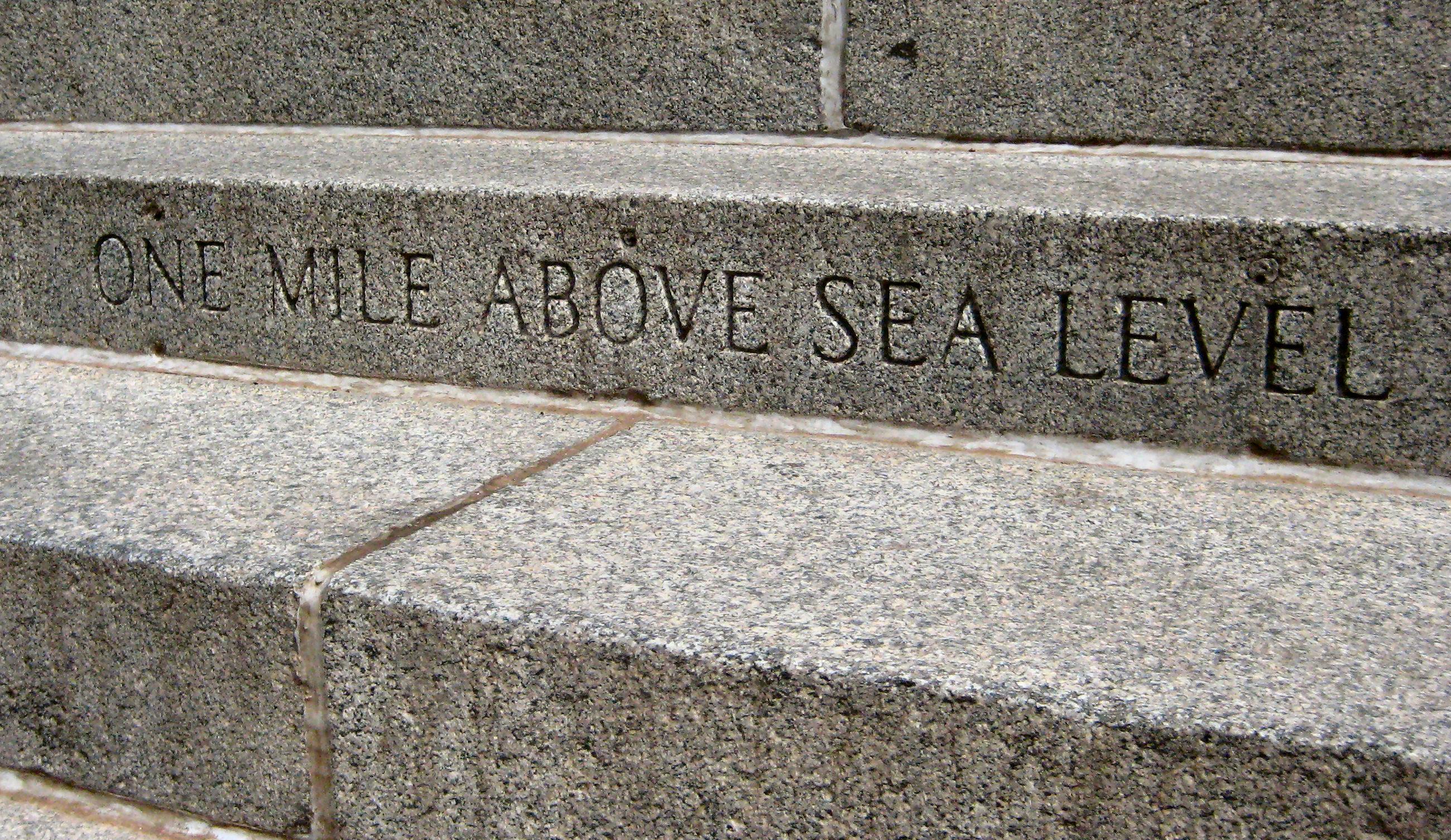 FileOne Mile Above Sea Leveljpg Wikimedia Commons - Level above sea level