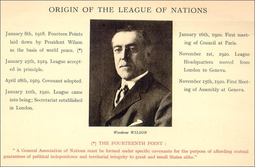 Woodrow wilson 14 points summary