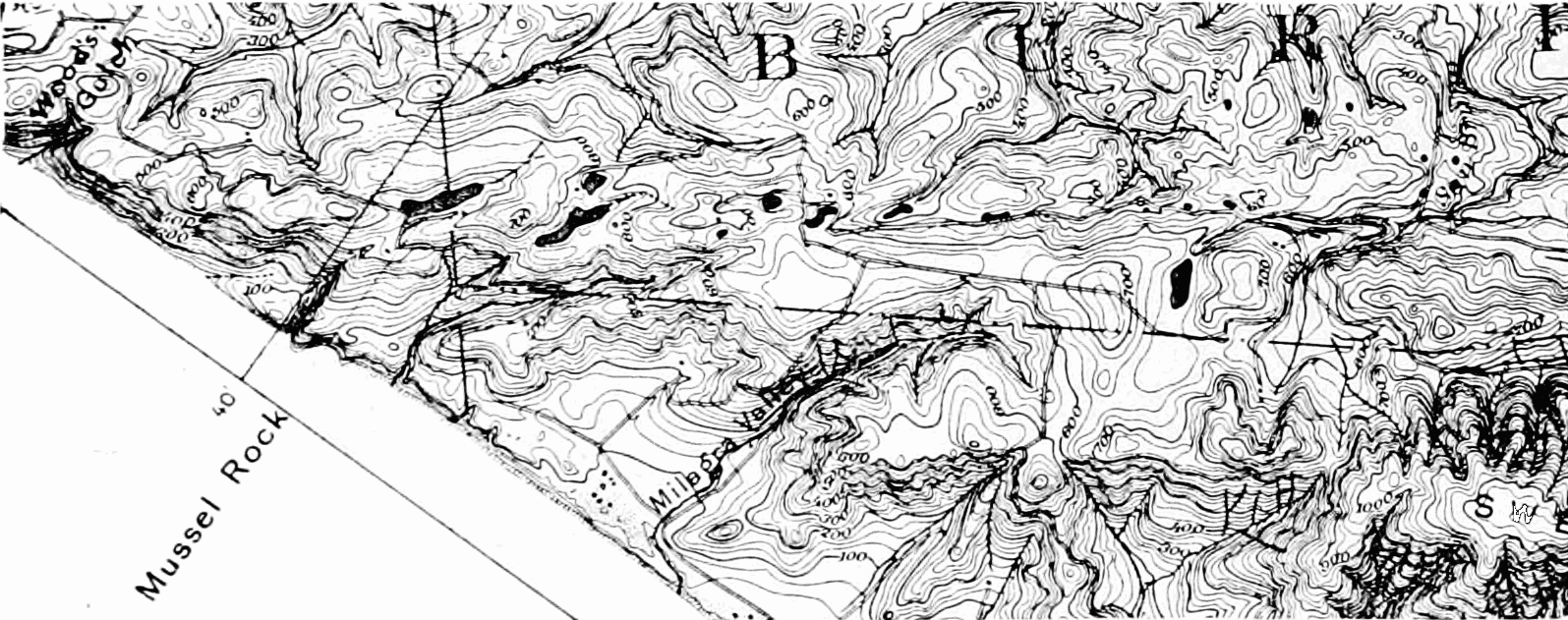 PSM V69 D077 Usgs map from mussel rock towards san andreas lake.png
