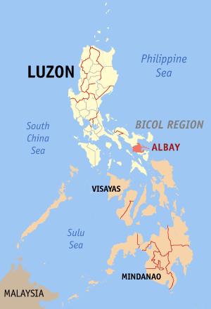 FilePh Locator Map Albaypng Wikimedia Commons - Legazpi city map