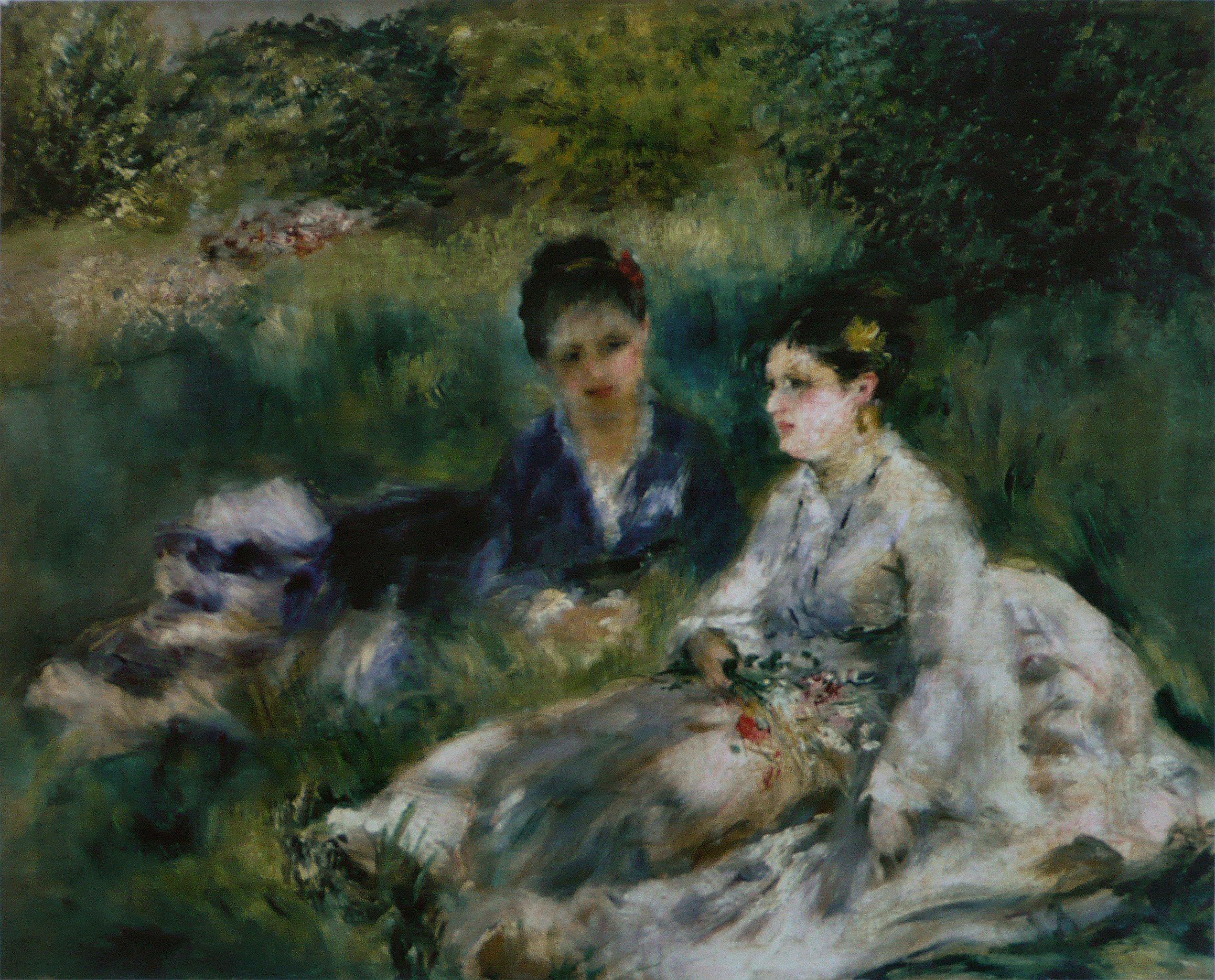 La  FEMME  dans  l' ART - Page 3 Pierre-Auguste_Renoir_-_Deux_femmes_dans_l%27herbe