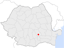Location of Ploiești