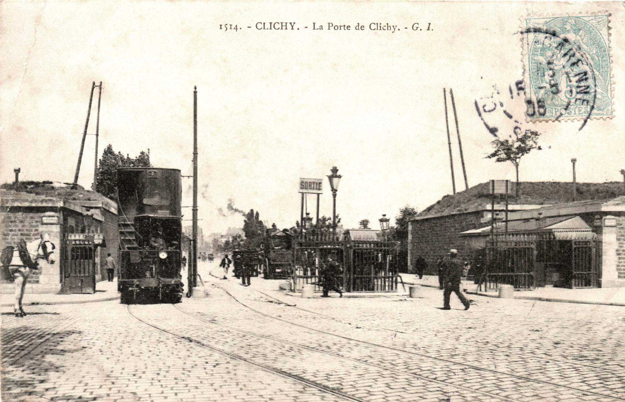 file porte de clichy tramway 233 lectrique 1904 jpg wikimedia commons