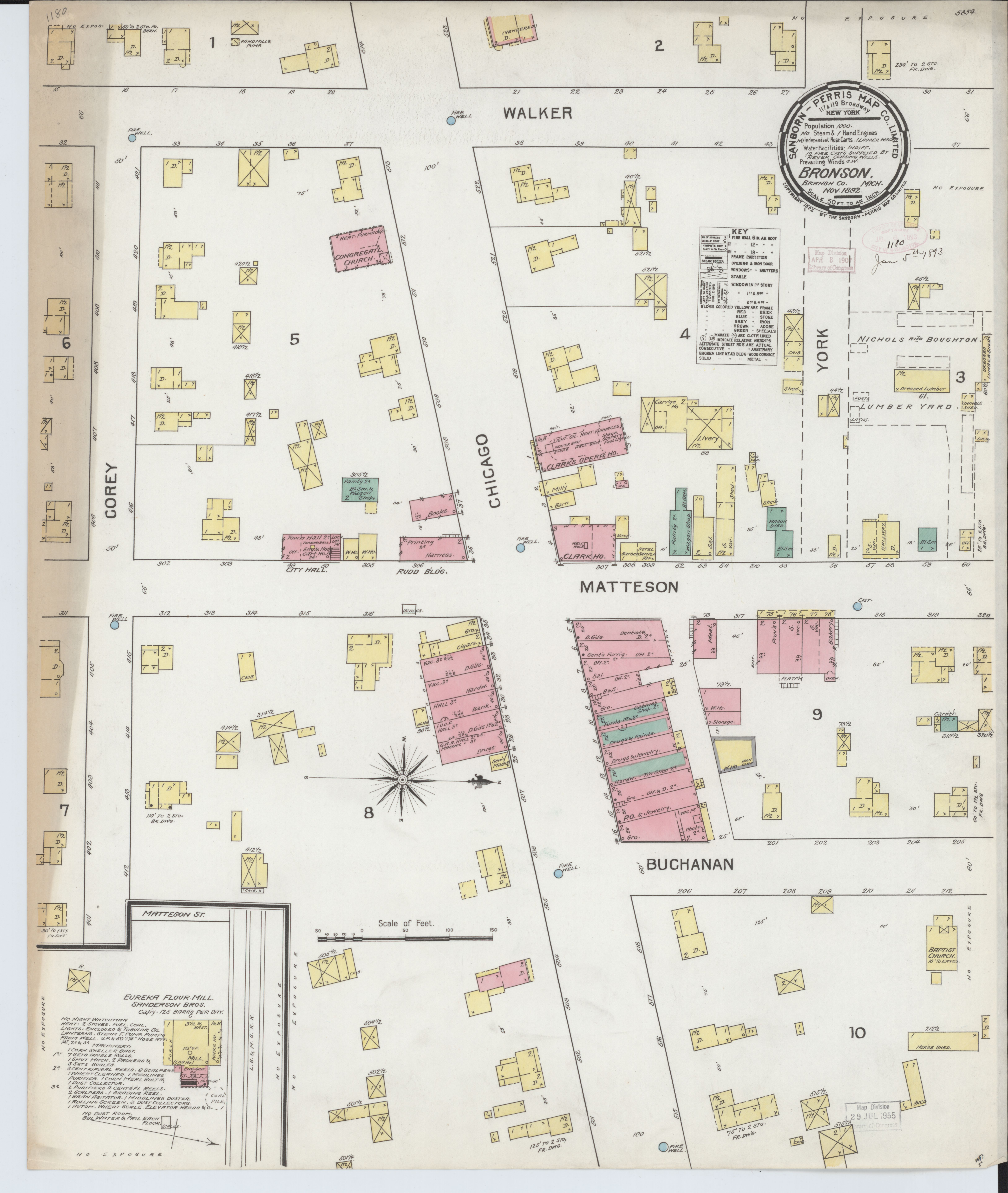 File Sanborn Fire Insurance Map From Bronson Branch County