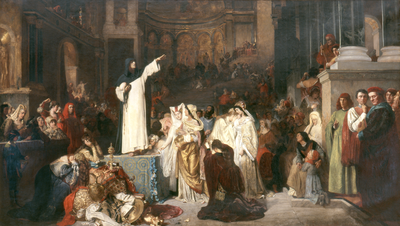 File savonarola preaching against prodigality ludwig von langenmantel