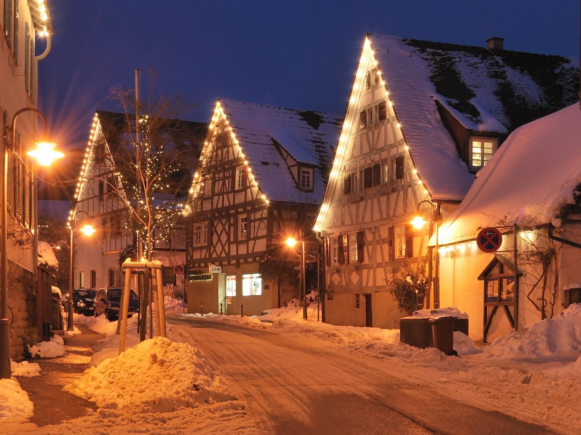 Немецкие рождественские картинки, цветы