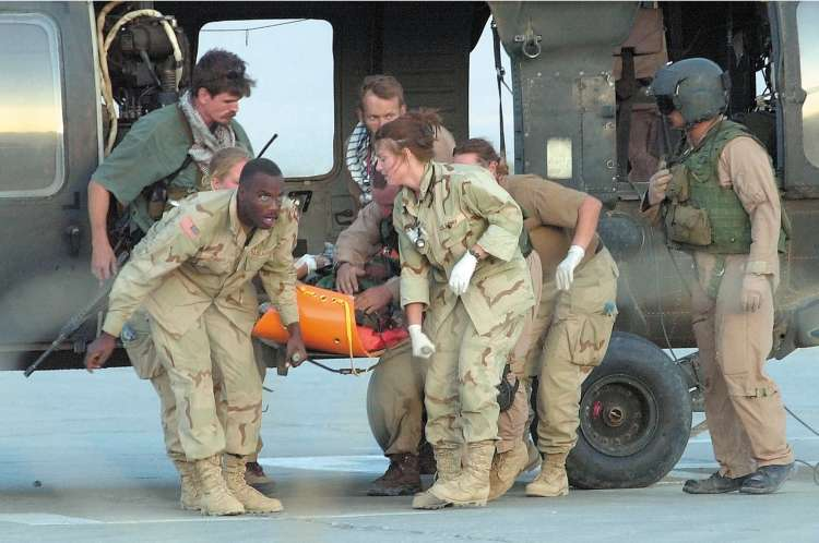 File:Speer at Bagram being unloaded by the 396th Medical.jpg