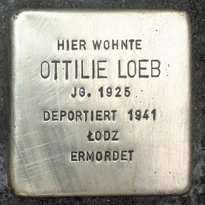 Stolperstein Francois Mainzer Landstraße 33 Ottilie Loeb