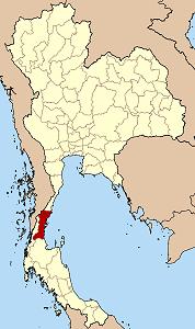 チュムポーン県の位置