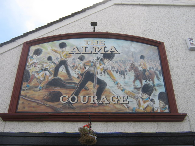 The Alma Public House Sign, Swanscombe - geograph.org.uk - 1411882