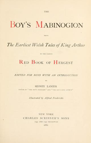 File:The Boy's Mabinogion - title page.jpg