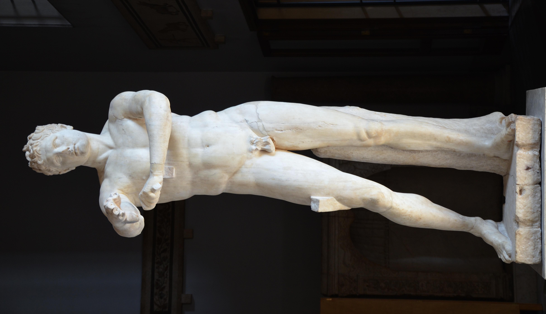"""File:The so-called """"Apoxyomenos"""" (""""the Scraper""""), Roman ...  File:The so-cal..."""